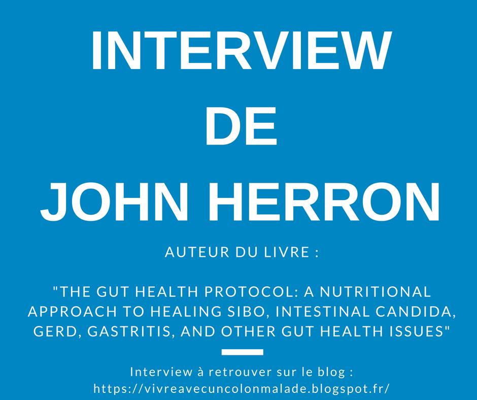 Read more about the article Interview: John Herron, auteur du livre «The Gut Health Protocol»