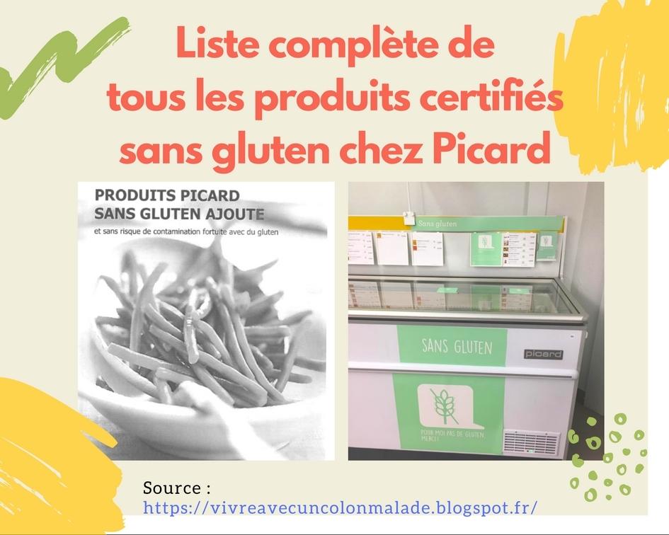 La liste de tous les produits certifiés sans gluten chez Picard