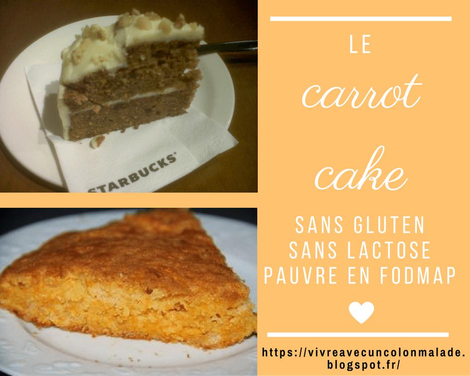 Read more about the article Le carrot cake {sans gluten, sans lactose, pauvre en FODMAP}