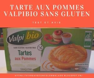 Tarte aux pommes Valpibio sans gluten: test et avis