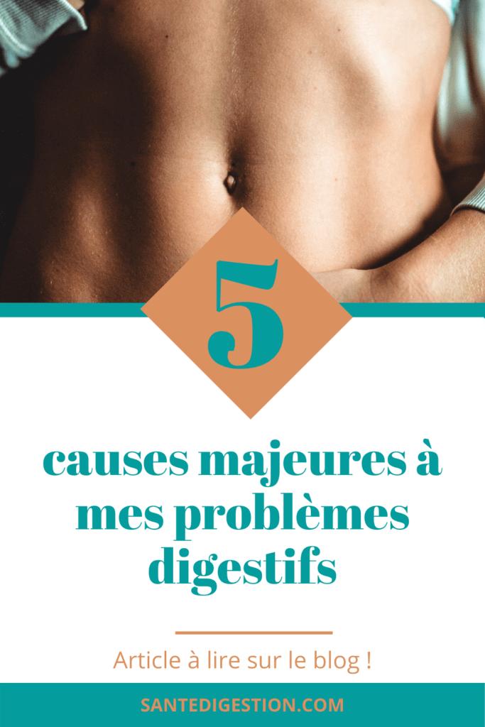 origine et causes de mes problèmes digestifs
