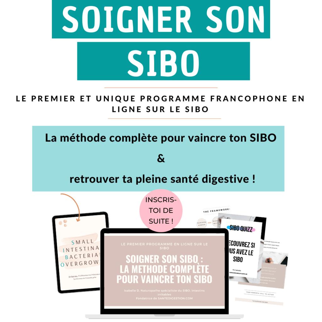 programme soigner son SIBO, la méthode complète pour soigner son SIBO