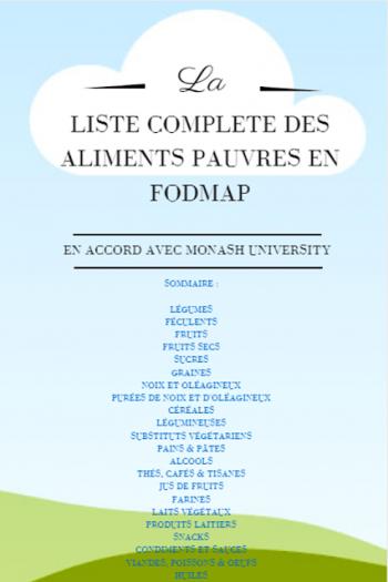 Liste complète des aliments pauvres en FODMAP en français